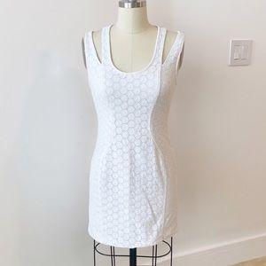 Rebecca Minkoff White Lace Eyelet Mini Dress 2